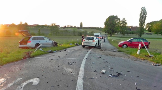 A view of the accident site where former German cyclist Jan Ullrich was involved in near Mattwil