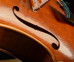 Viola by David Finck - F-hole