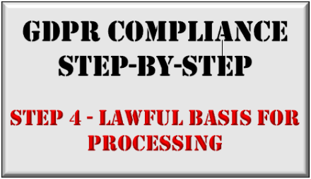 GDPR Step-by-Step - Lawful Basis for Processing