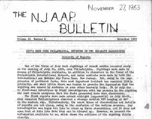 My own UFO mag: NJAAP Bulletin, November 1963