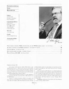 IUR: honoring CUFOS's founder, Professor J. Allen Hynek.