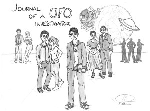 """Amelia Richards, """"Journal of a UFO Investigator"""" (2013). Used with permission of the artistards """"Journal of a UFO Investigator"""" (2013). Used with the artist's permission."""