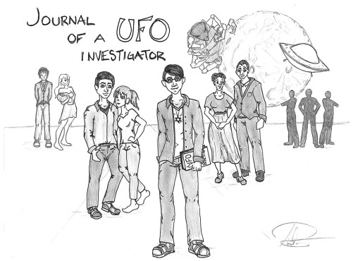 "Amelia Richards, ""Journal of a UFO Investigator"" (2013). Used with permission of the artistards ""Journal of a UFO Investigator"" (2013). Used with the artist's permission."