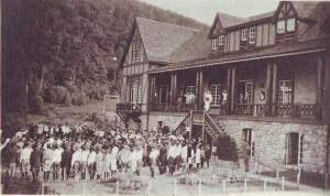 Surprise Lake Camp in1920. Photo from the camp's website. More historical photos at http://bit.ly/2rnVDS0.