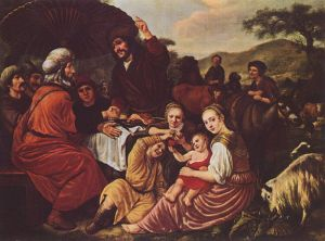 Moses with his Midianite in-laws, in more peaceful times. (Exodus 18; Jan Victors, ca. 1635; from Wikimedia Commons.) I wish things could have stayed this way.