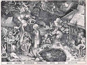 St James and the magician Hermogenes in a showdown