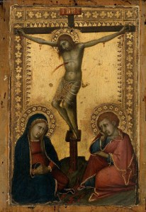 Crucified Christ with the Virgin and St. John, by Naddo Ceccarelli