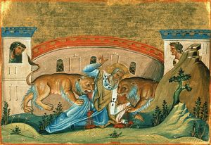 """Permit me to imitate my suffering God... I am God's wheat and I shall be ground by the teeth of beasts, that I may become the pure bread of Christ."" –St. Ignatius of Antioch"