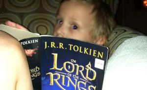 George reading Lord of the Rings