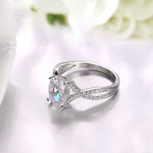 ROXI Brand 925 Sterling-silver-jewelry Ring Wholesale Silver Charm For Women Wedding Rings Square Zircon Luxury Gift Image 5