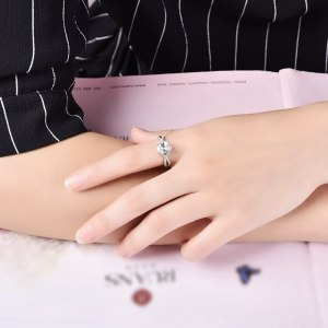 ROXI Brand 925 Sterling-silver-jewelry Ring Wholesale Silver Charm For Women Wedding Rings Square Zircon Luxury Gift Image 6