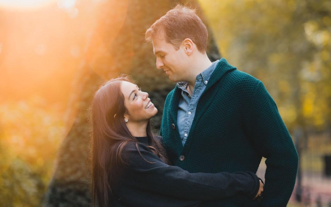 Autumn Engagement Photoshoot in London