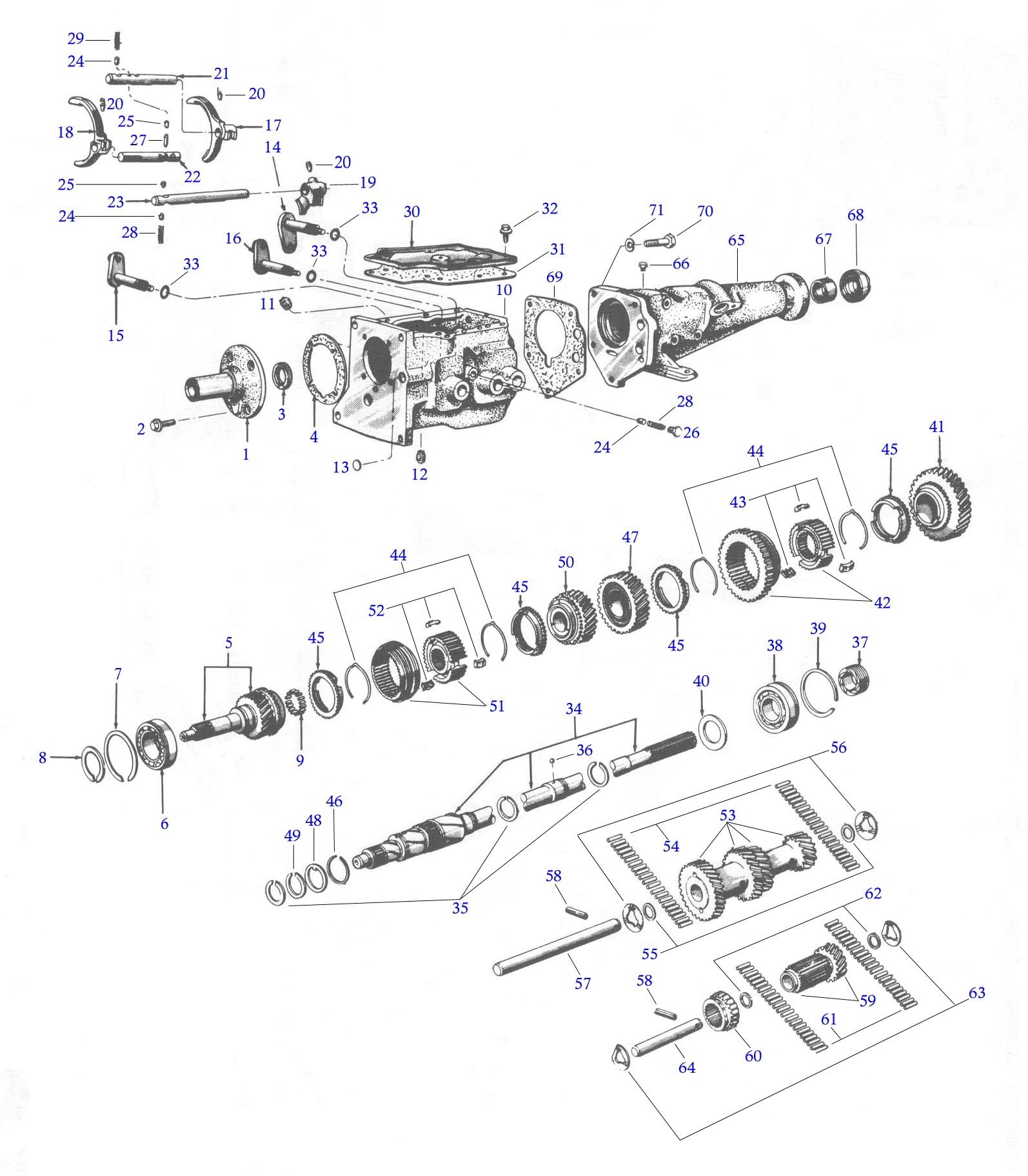 Exploded View Of A Toploader