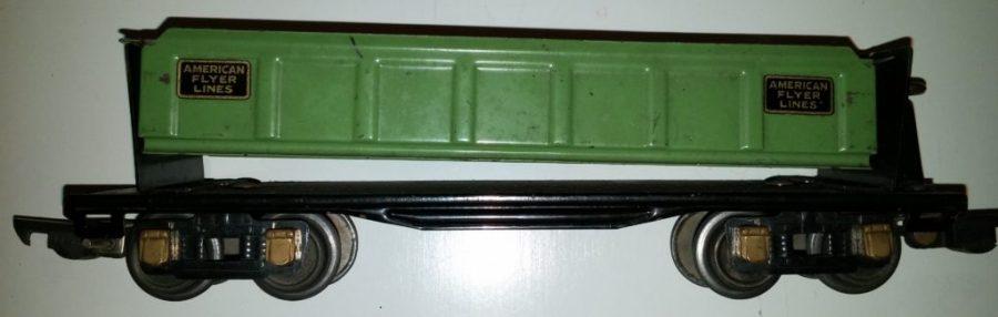 Green Flatcar - American Flyer