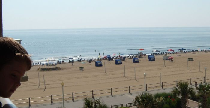 The view from the Virginia Beach Timeshare