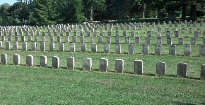 Civil War Cemetery at the Antietam Battlefield