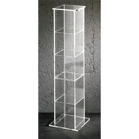 tour de rangement cary un meuble transparent design