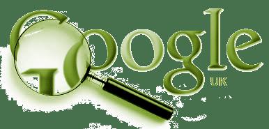 Google logo magnified