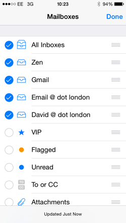 iPhone Mail Preferences