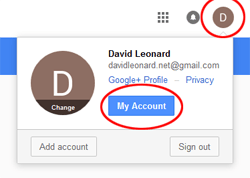 Fig 1 - Accessing Google Account Info