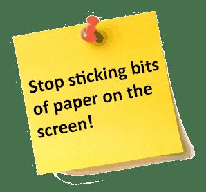 Sticky Notes Message