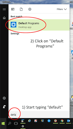 Setting Default Programs - 1