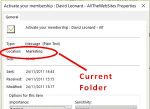 Outlook Message Properties