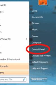 Control Panel - Windows 7