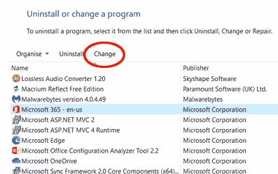 Change Program