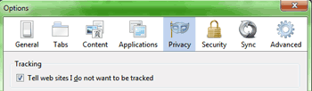 "Firefox ""Do Not Track"" Control"