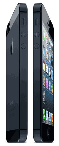 front and rear photos of iPhone 5
