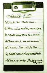 Niggling list
