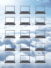 Laptops in the clouds