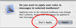 Mac Mail Don't Apply