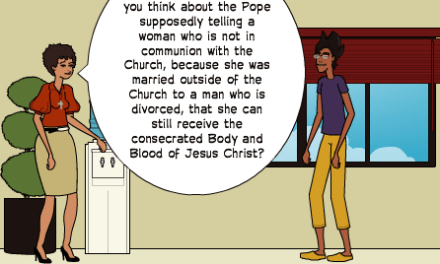 Modern Catholic Comic – Brock Responds to Pope Francis' Communion Call