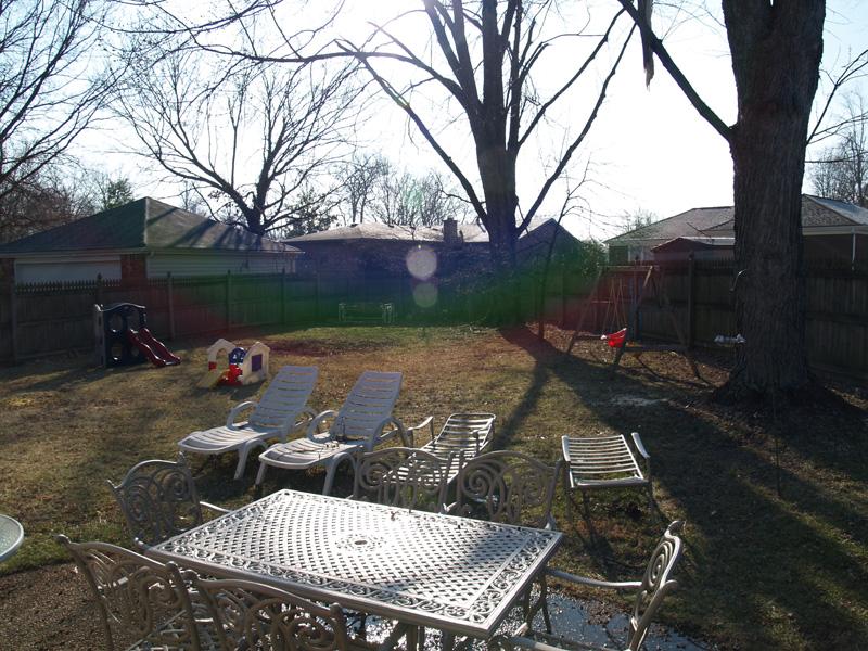 CLena back yard