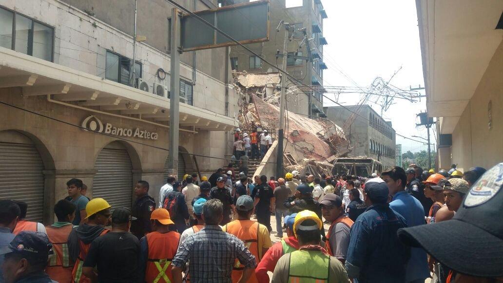 Reportan 42 muertos en Morelos por sismo