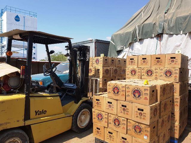 Incautan cientos de cartones de cerveza robados