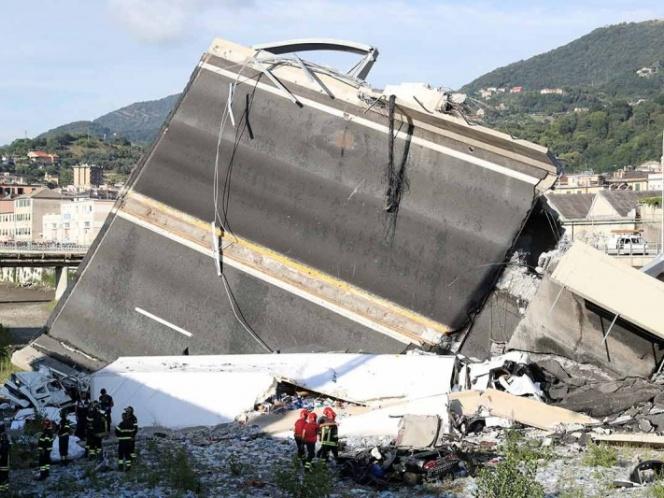 'Oh, Dios mío, no': testigo capta el derrumbe en Italia