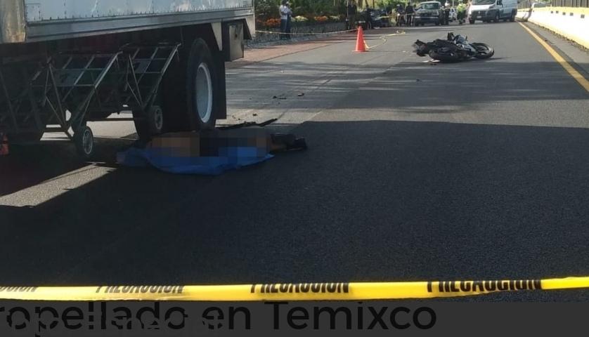 Identifican a motociclista atropellado en Temixco