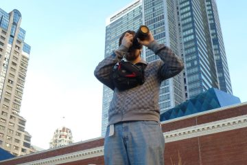 David Needham taking photos in San Francisco
