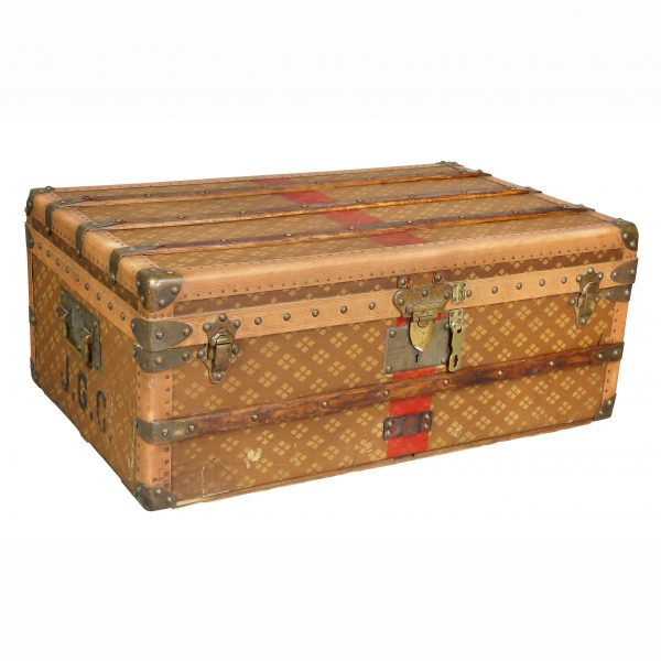 French Steamer Trunk By Aux Etats Unis