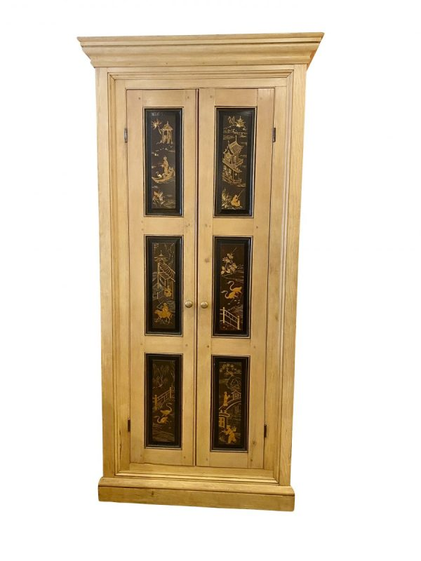 English Pine and Japanned Cabinet.