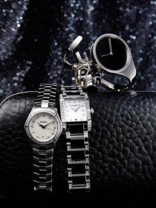 watches   jewellery Archives   David Parfitt   still life photographer watches and handbag still life  black and silver  skull  McQueen  luxury  accessories