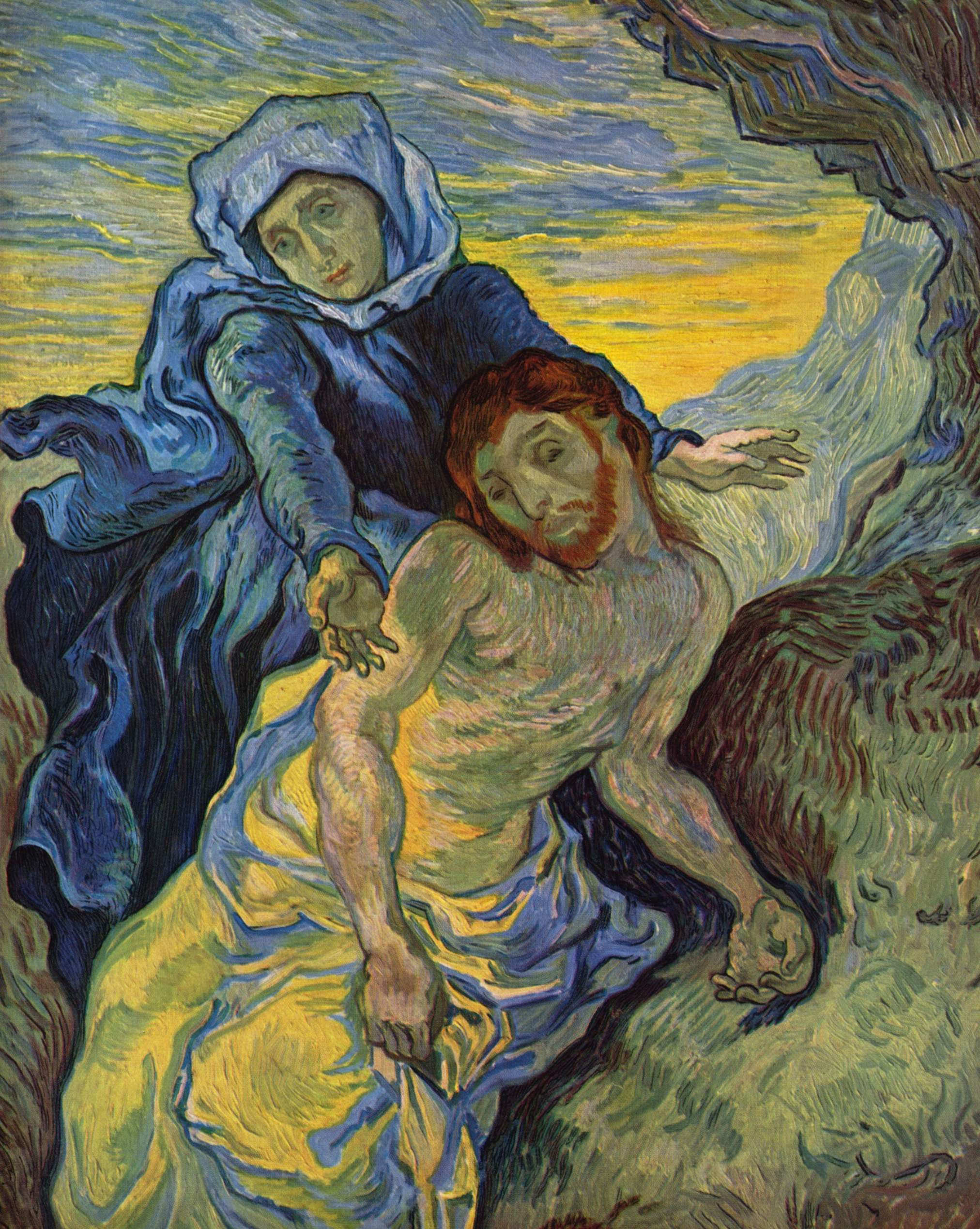 """Pieta"" of Jesus and Mary Painted by Van Gogh in 1890"