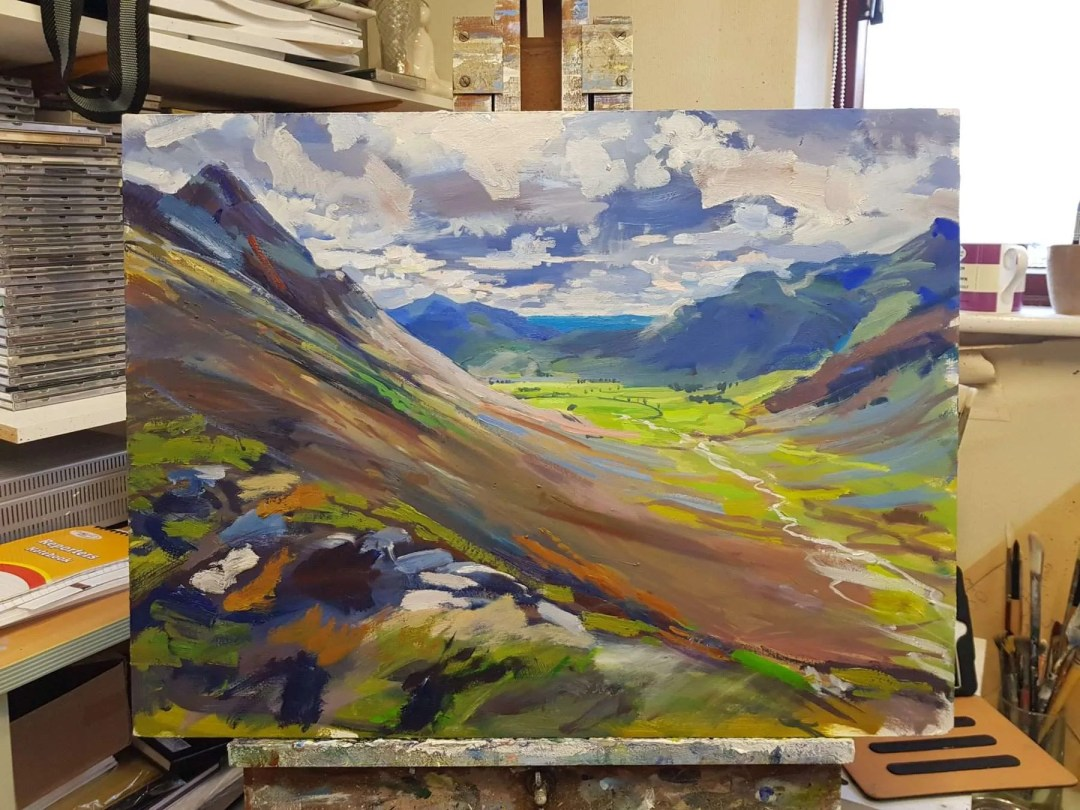 Pike of Stickle and Mickleden Detail 01