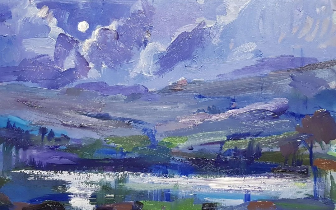 New painting: moonlight on the moors