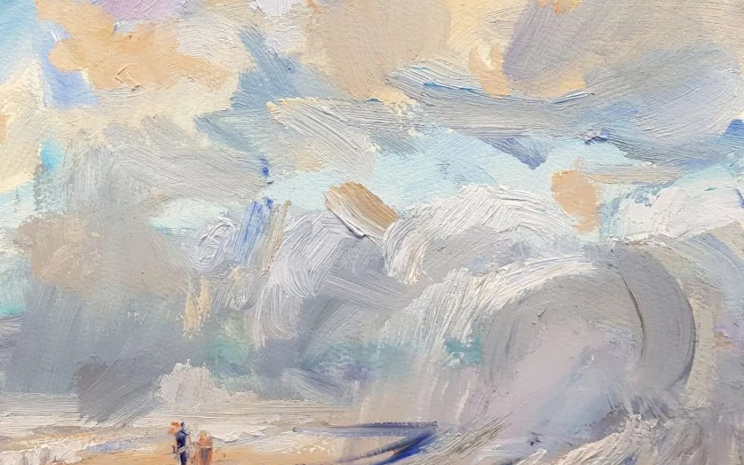 Work in progress 12th May 2018: showers on the beach