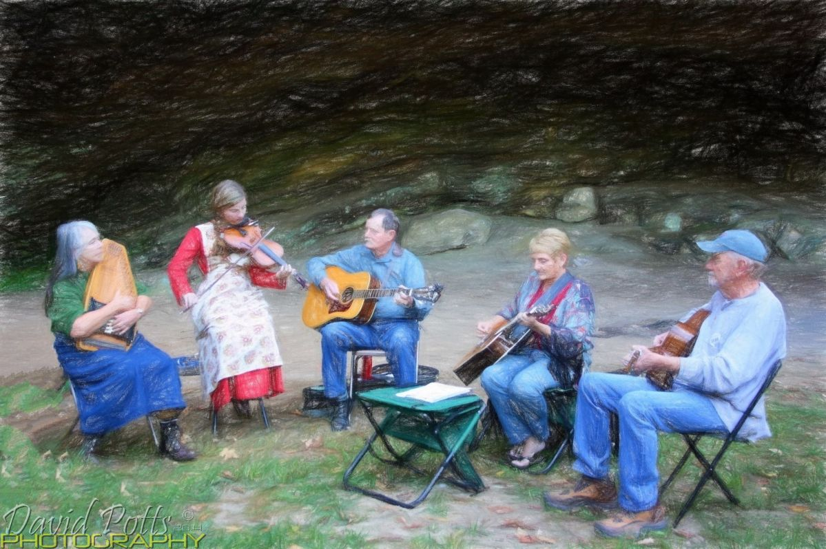 Pickin' at the Shelter Cave