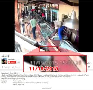 """""""russologia"""" sostiene sia un video relativo ad un fatto del 9 ottobre 2015, ma il video è del 19 novembre 2015"""
